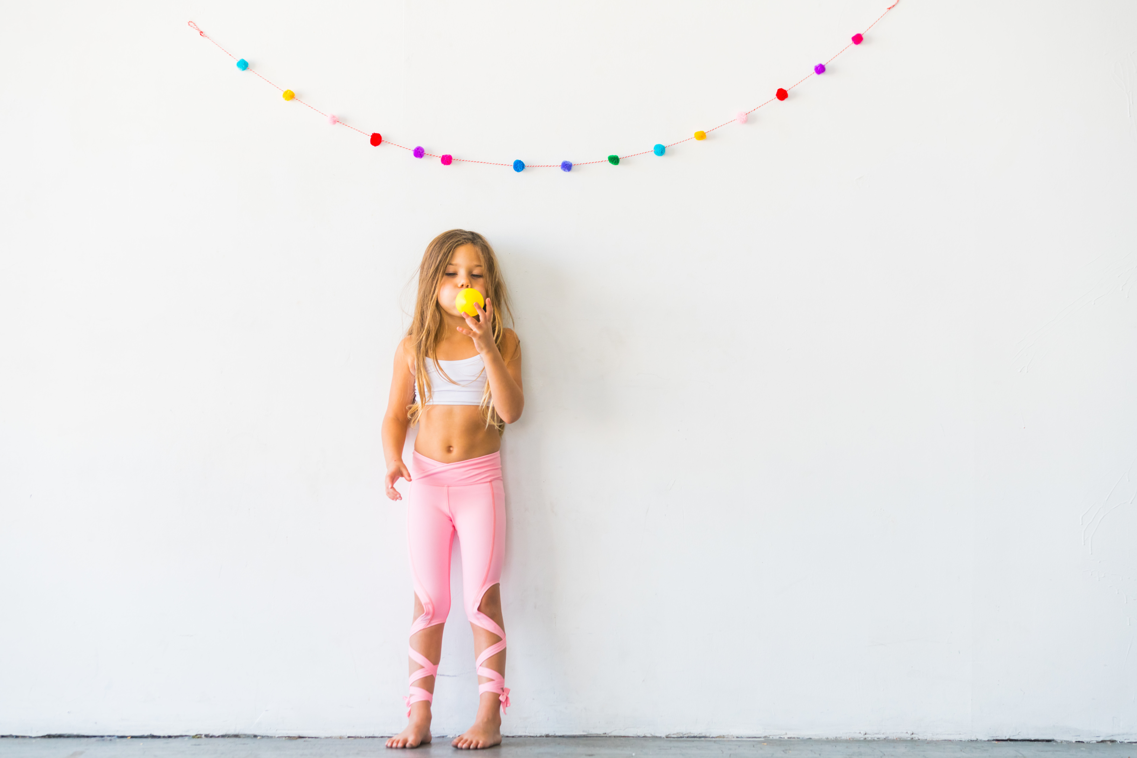 48b0273e2b8f5 Details about Flexi Lexi Fitness Kids Minis Coral Pink Dancer Leggings  Sports Yoga Pants