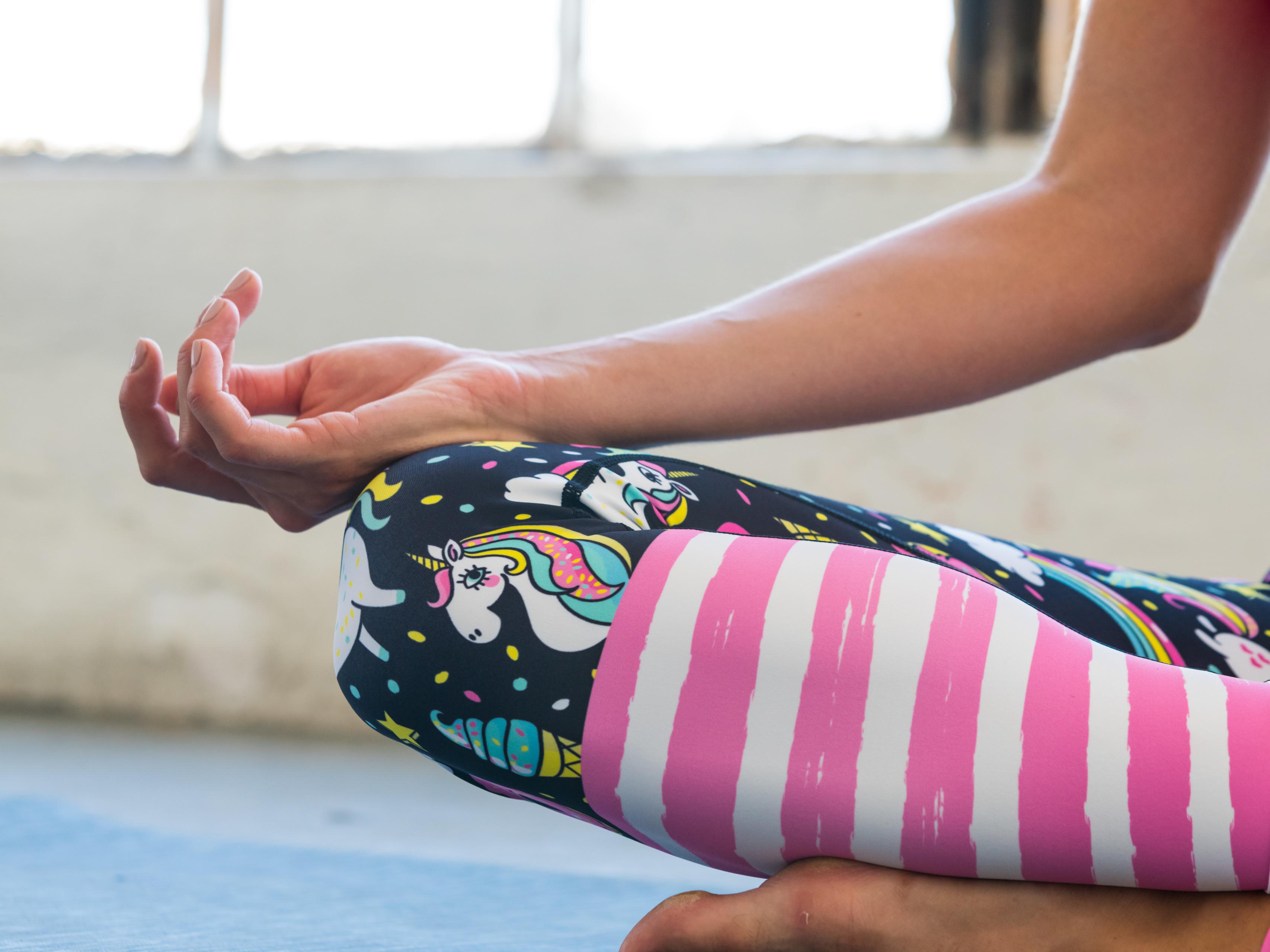 f797c35cbf725 Flexi Lexi Fitness Womens Rainbow and Unicorn Yoga Pants Sports Leggings