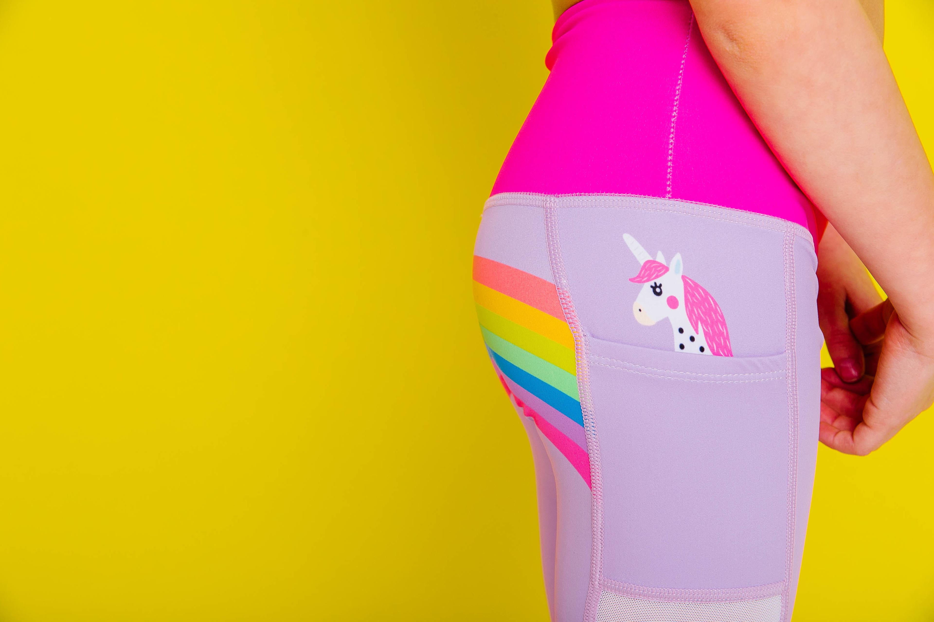 c2fb78c8310ff Details about Flexi Lexi Fitness Kids Minis Unicorn in My Pocket Yoga Pants  Sports Leggings